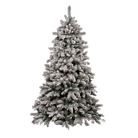 snowy christmas tree christmas lights decoration