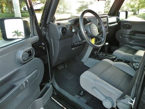 2007 Jeep Wrangler X Interior by 2007 Jeep Wrangler Unlimited X Fort Myers Florida For Sale