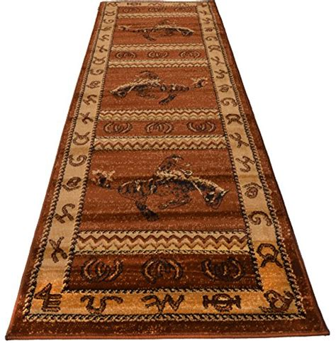rugs 4 less rugs 4 less collection cowboy western cabin style lodge runner area rug ebay