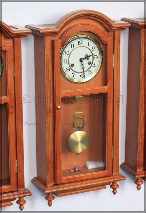 Living Room Pendulum Clock European Wood Wall Clock Pendulum Tuo Living Room Wall