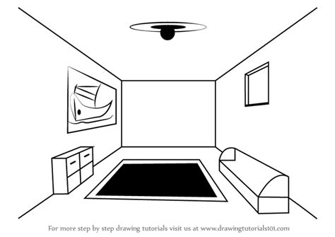draw a room learn how to draw a room using one point perspective one