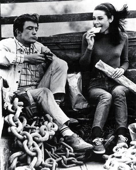 audrey hepburn and albert finney albert finney and audrey hepburn on the set of two for