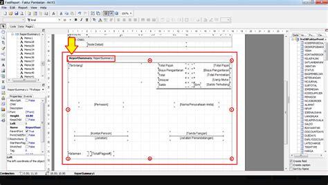 desain header dan footer mendesain header dan footer faktur transaksi hanya pada