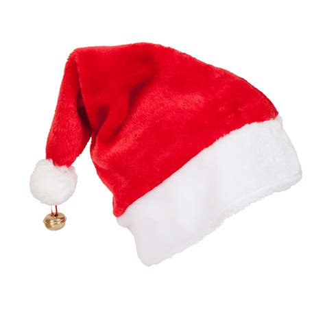 deluxe santa hat with bell santa clause christmas hat