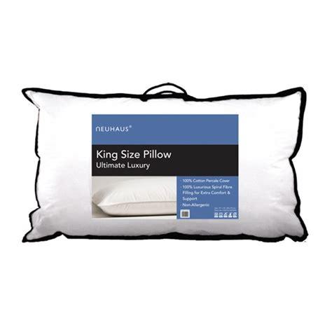 King Size Pillow Dimensions by Neu Haus King Size 100per Cent Cotton Pillow