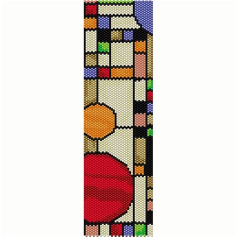 delica bead patterns geometric 15 peyote bead pattern bracelet cuff frank
