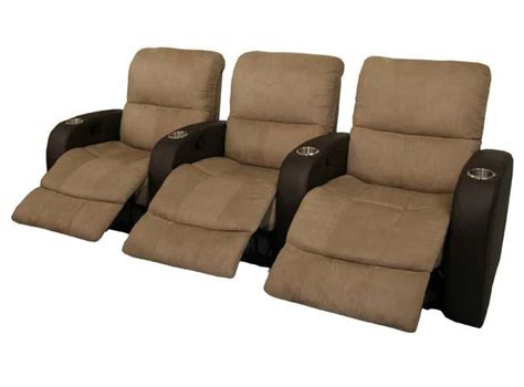 Recliner Chairs Theater by Home Theater Seating 7 Chairs Brown Recliners Ebay
