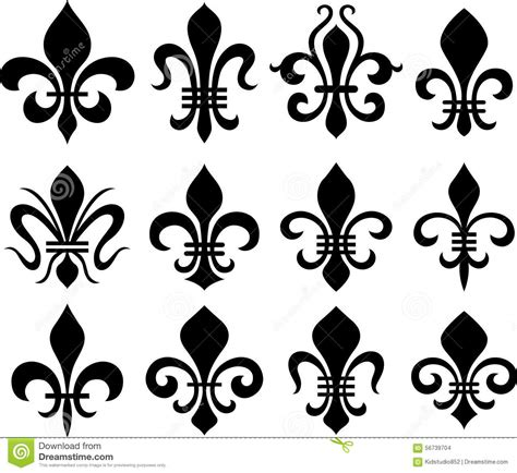 fleur de lys classic symbols stock photo image 56739704