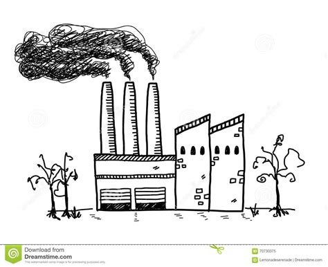 building doodle factory pollution doodle stock vector illustration of