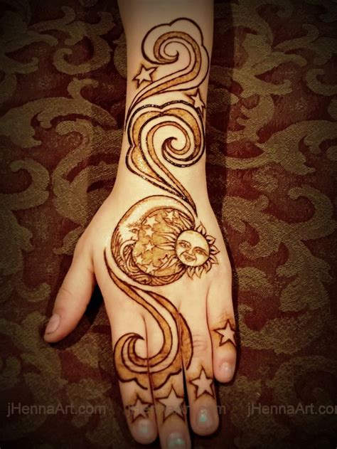 henna tattoo sun henna designs sun and moon makedes