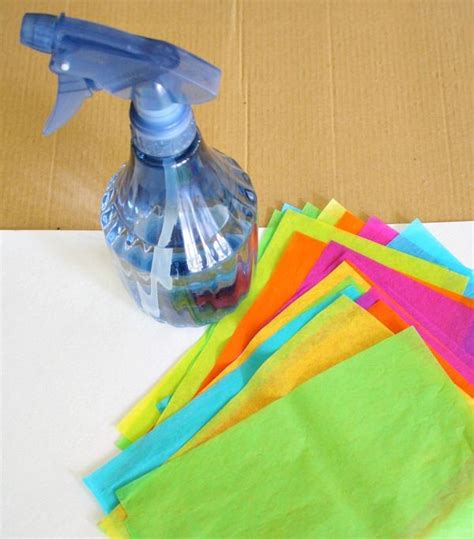 Tissue Paper Crafts For Preschoolers - tissue paper