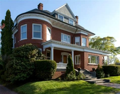 Two Story Craftsman a beautifully restored red brick victorian in maine