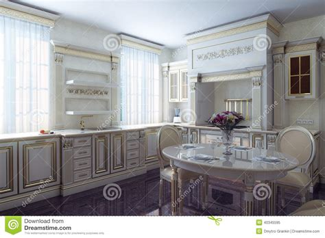 Vintage Looking Kitchen Cabinets Classic Kitchen Cabinet In Provence Vintage Style Stock Image Image Of Normal Kitchen 40345595