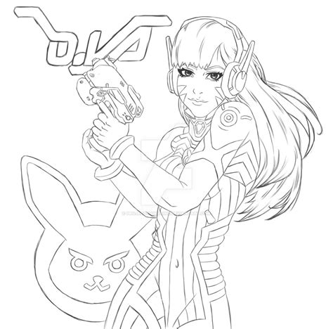 D Va Sketches by Fanart Overwatch Dva By Caiusshinra On Deviantart