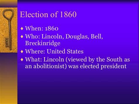 how did the election of 1860 increased sectional tensions causes of the civil war review information
