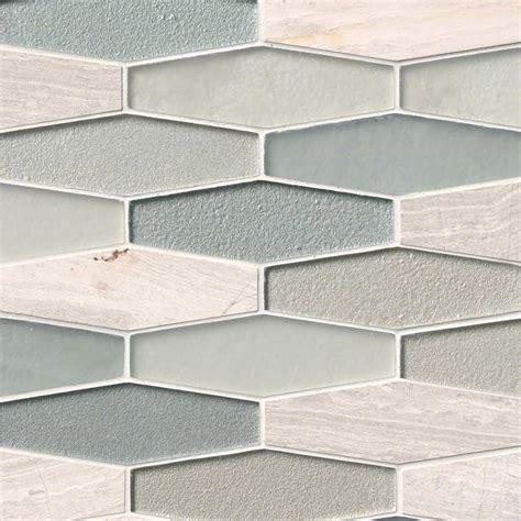hexagon backsplash tile europa elongated hexagon glass and backsplash tile
