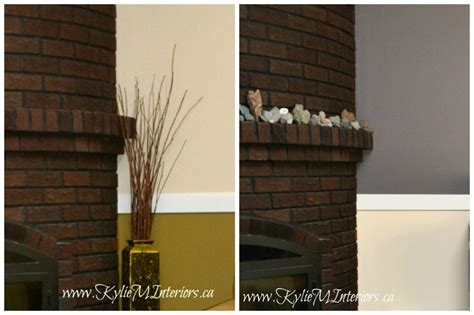 brick purple brown toned fireplace with gentle benjamin and cil