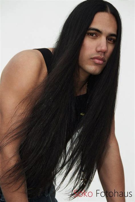 photos of long native american hair aboriginal ojibwe male model will rayne strongheart