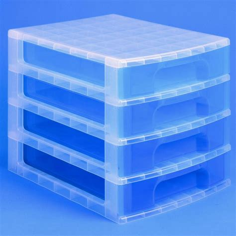 desktop storage drawers uk really useful desktop 4 drawer unit 20 litre plastic
