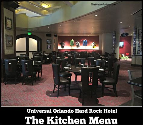 The Kitchen Universal Orlando the kitchen menu rock hotel at universal orlando resort