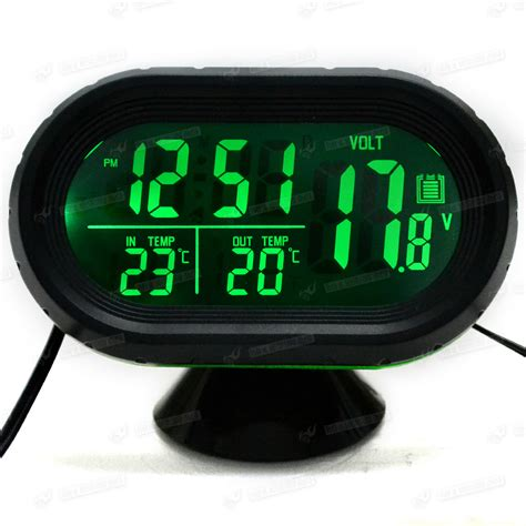 Voltmeter Auto by Kfz Auto Lcd Thermometer Spannungstester Spannungsmesser
