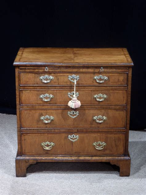 small walnut chest  drawers georgian chest antique