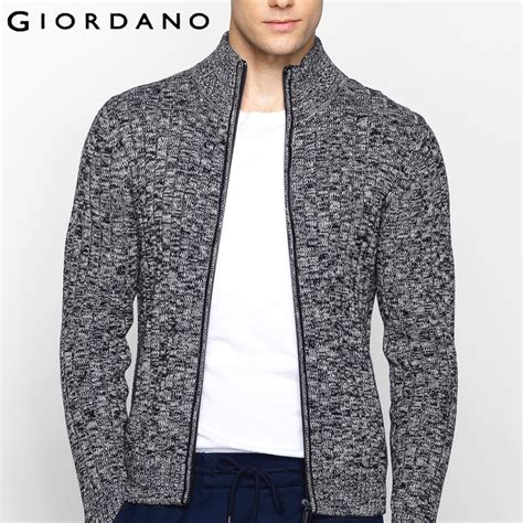 Sweater Giordano aliexpress buy giordano sweater stand collar sleeves cardigan zipper sweaters