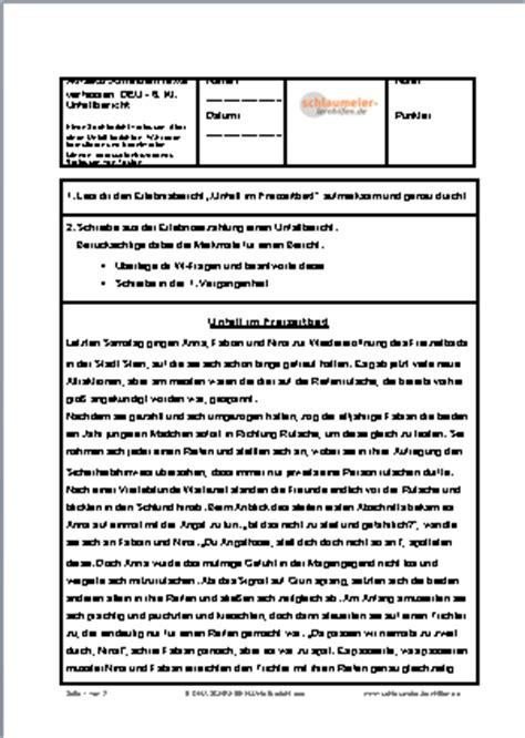probe unfallbericht freizeitbad lern und 220 bungshilfen f 252 r die grund und mittelschule