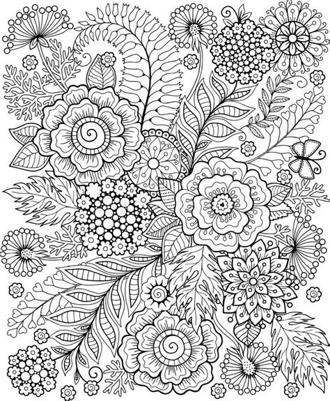 abstract summer coloring pages black and white summer flowe isolated on white abstract