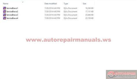 fiat bravo brava service manuals auto repair manual