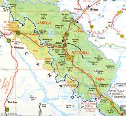 jasper canada map map of canada mountains rivers and lakes planetware