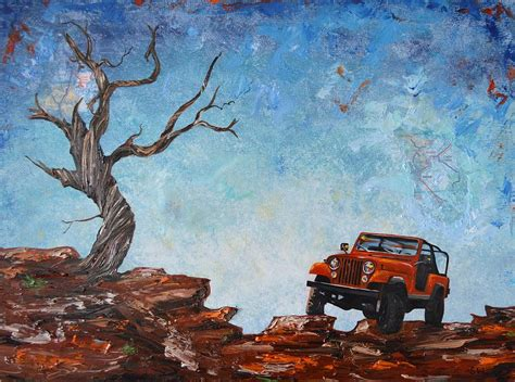 jeep painting canvas jeep scrambler painting by sheri wiseman