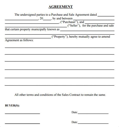 Simple Sales Agreement Template purchase agreement 10 free documents in pdf word