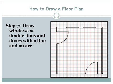 drawing floor plans by drawing a floor plan