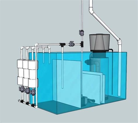 Saltwater Aquarium Plumbing Design by Building A Sump The Sapp Family