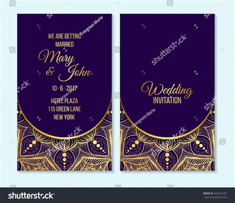indian wedding invitation background purple wedding invitation thank you card save stock vector 604241297