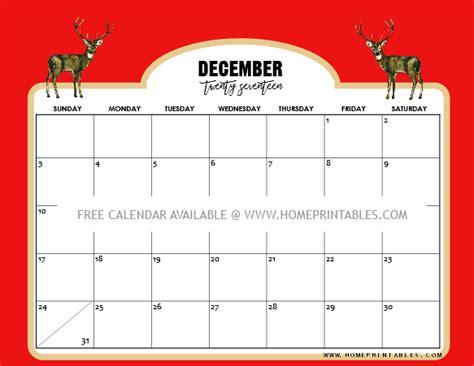 printable calendar december 2017 christmas free calendar december 2017 8 christmas themed home