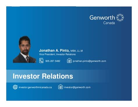 Assumption College Mba Course Catalog by Genworth 2015 Investor Day Final2