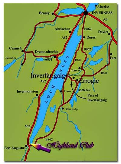 loch ness map travel links loch ness