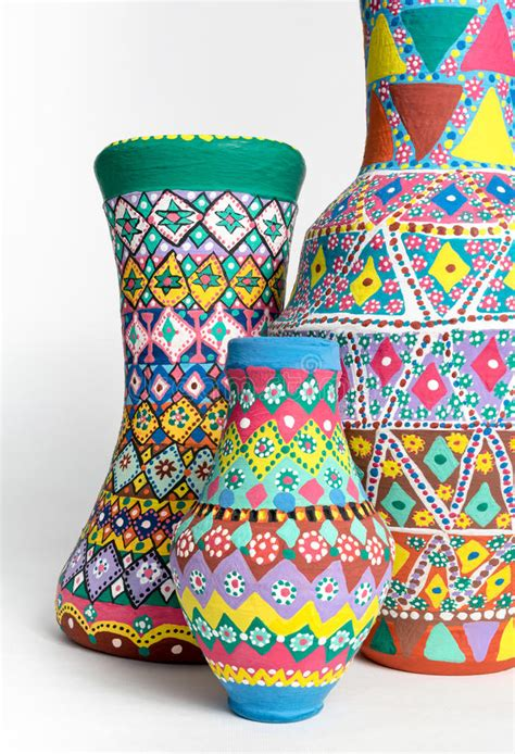 vasi orientali vasi orientali dipinti decorati variopinti delle terraglie