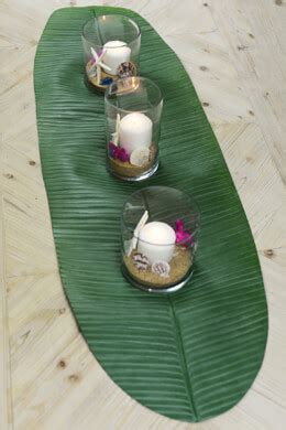 banana leaf table l hawaiian luau decorations