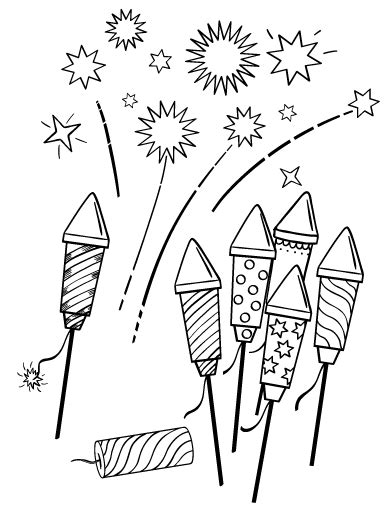 fourth of july coloring pages pdf printable fireworks coloring page free pdf download at