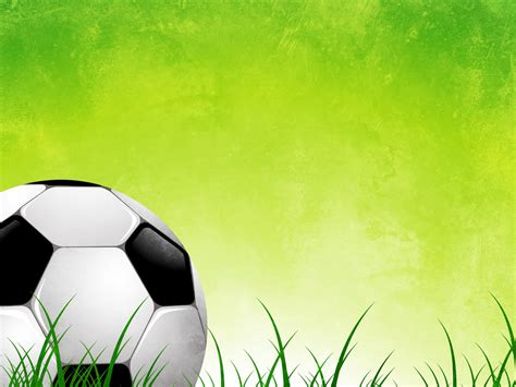 Free Soccer Ball On Green Grass Abstract Backgrounds For Powerpoint Sports Ppt Templates Free Soccer Powerpoint Template