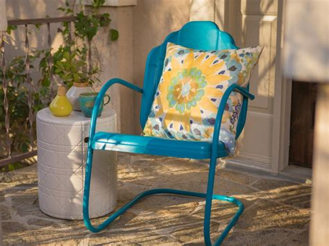 painting metal chairs how to paint an outdoor metal chair how tos diy