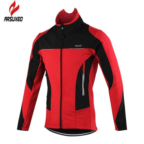 best winter cycling jacket 2016 aliexpress com buy arsuxeo 2016 thermal cycling jacket