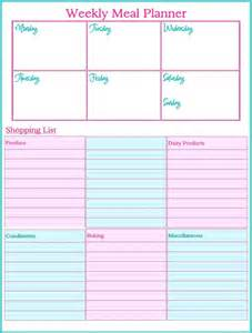 Free Weekly Meal Planner Template Search Results For Weekly Meal Planning Template