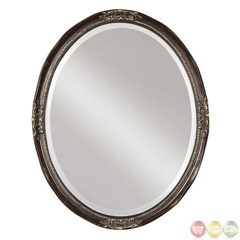 silver oval mirrors bathroom newport oval contemporary silver leaf bronze vanity oval