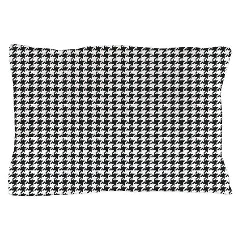 black and white houndstooth pillow by organicpixels