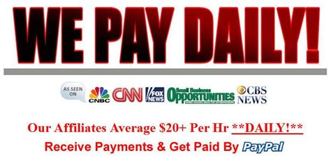 20 per hour earn daily pay work at home 30 daily