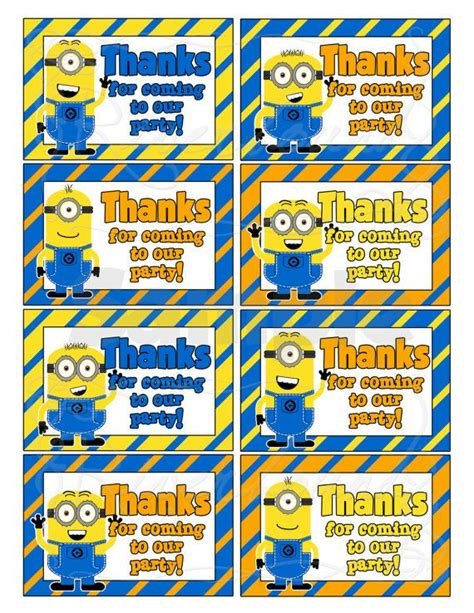 free printable minion christmas gift tags 52 best images about aidan s minion pool party on